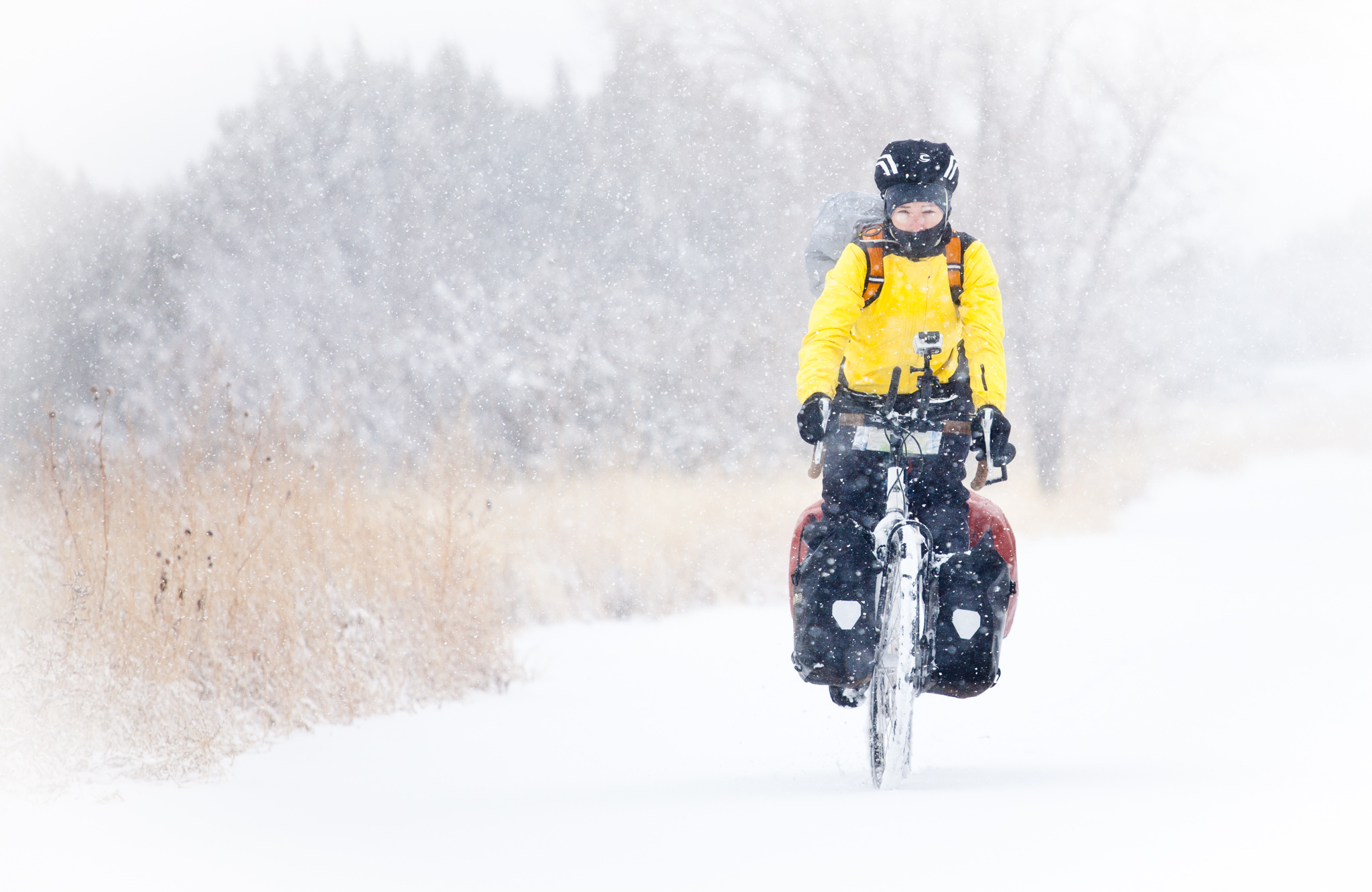 Coppola Photography - biking in the snow