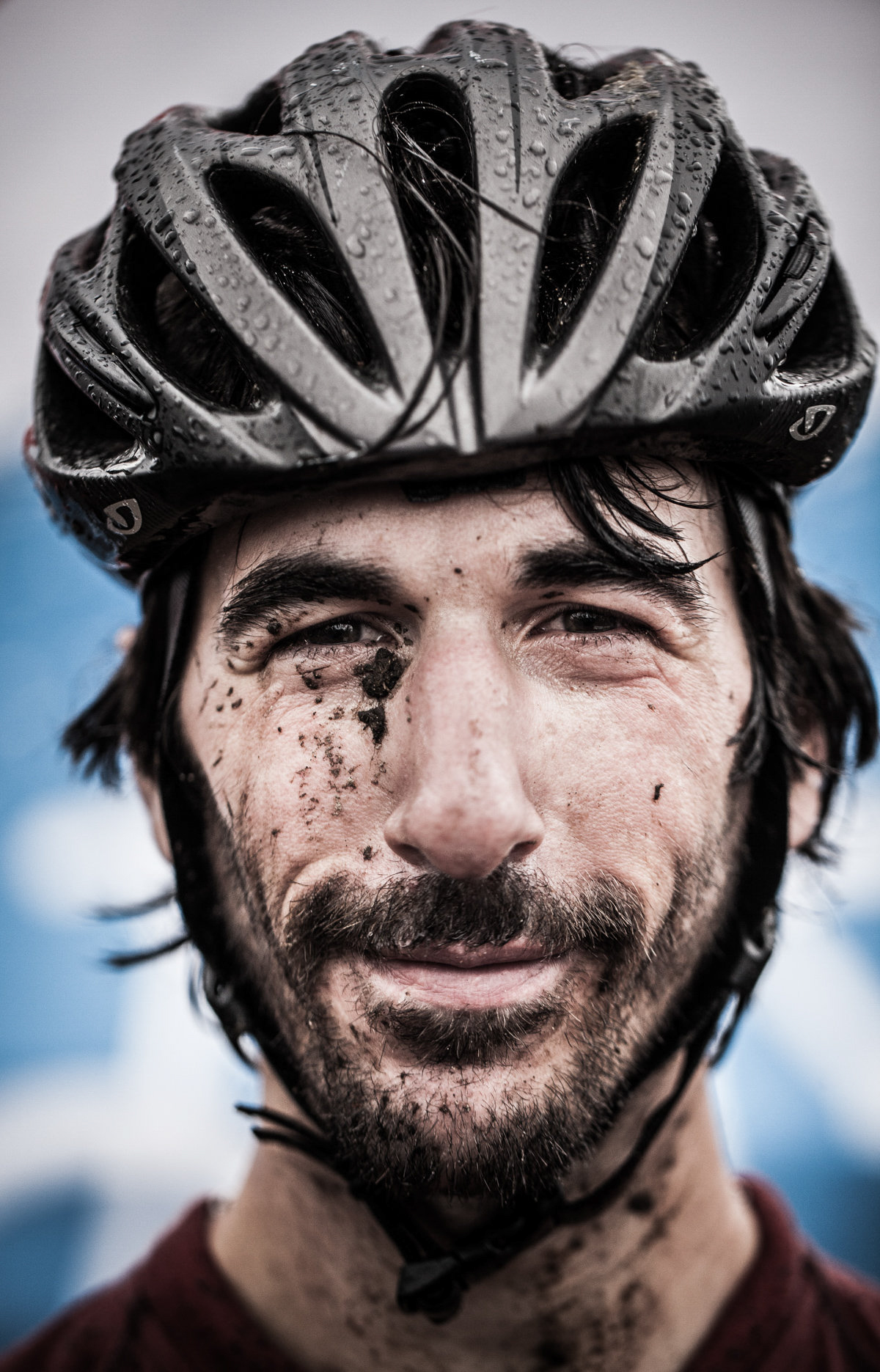 Muddy Face Portrait - Athlete